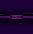glitch neon loading cyberpunk futuristic concept vector image vector image