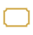 Gold frame Beautiful simple golden white design vector image vector image