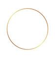gold frame border golden thin boarder round vector image