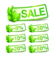 Green Nature Sale Tags vector image vector image