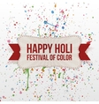 Happy Holi Festival of Color paper Banner vector image