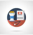 hookah tobacco color detailed icon vector image