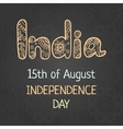 Indian Independence Day 15 august vector image