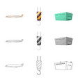 isolated object goods and cargo icon vector image vector image