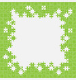 jigsaw puzzle background banner or frame vector image