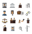 Judicial System Icon Set vector image