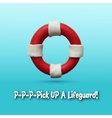 Lifebuoy on blue background vector image