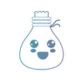 line kawaii cute happy bag cloth vector image vector image