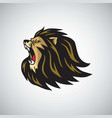 mad lion head roaring mascot logo template vector image vector image
