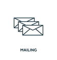 mailing icon symbol creative sign from vector image vector image