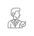 manager line icon concept manager linear vector image vector image