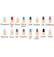Manicure types Nail design nail art set