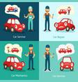 mechanic service repair posters set vector image vector image
