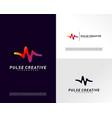 medical pulse or wave logo design concepthealth vector image vector image
