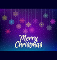 merry christmas background with multi-colored vector image vector image