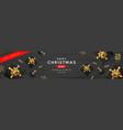merry christmas sale black gift box golden ribbon vector image vector image