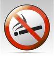 No smoking prohibition sign vector image