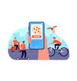 online food delivery restaurant order service vector image vector image