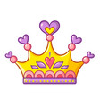 princess crown in cartoon style vector image