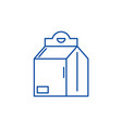 product in box line icon concept product in box vector image