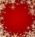 Red winter background with snowflakes vector image vector image