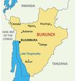 Republic of Burundi - map vector image vector image
