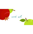 rosh hashanah banner apples and pomegranate vector image