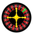 roulette object vector image vector image