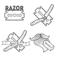 Set of logotypes for barbershop vector image vector image