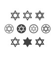 shield magen david star set symbol israel vector image
