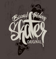 Skate board lettering t-shirt graphics design