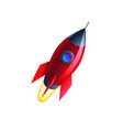space flat background with rocket vector image vector image