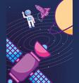 space galaxy cosmic card vector image
