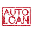 stamp text auto loan vector image