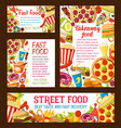 strert food fastfood takeaway posters vector image vector image