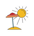 summer beach icon cartoon style vector image