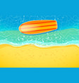 surfboard at beach vector image vector image