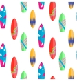 Surfboard seamless pattern Multicolor vector image vector image