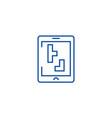 tetris line icon concept tetris flat vector image