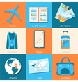 tourism icons set concept Tourism with fast travel vector image vector image