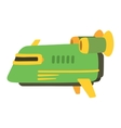 UFO spaceship isolated vector image vector image