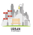 Urban and cityscape design vector image vector image