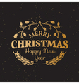 Vintage Christmas Elements vector image