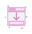 web layouts icon design vector image vector image