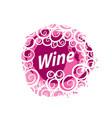 wine logo imprint vector image vector image