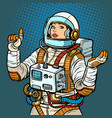 woman astronaut space exploration vector image vector image