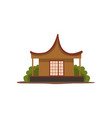 wooden traditional chinese house vector image vector image