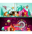 Circus day and night vector image