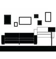 Modern sofa furniture set vector image