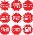 Special offer signs set special offer sticker set vector image